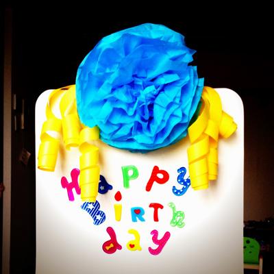 まさしく「お誕生日席」